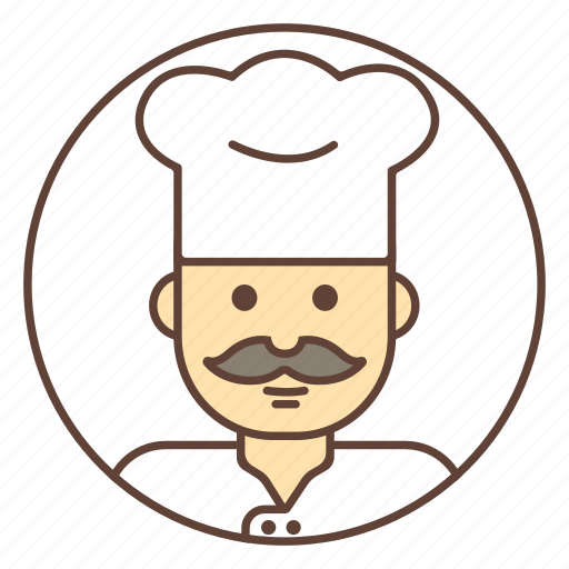 avatar, chef, cook, mustache icon