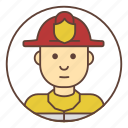 avatar, firefighter, fireman icon