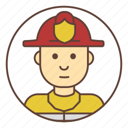 avatar, firefighter, fireman icon