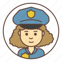 avatar, cop, girl, officer, police, policeman icon