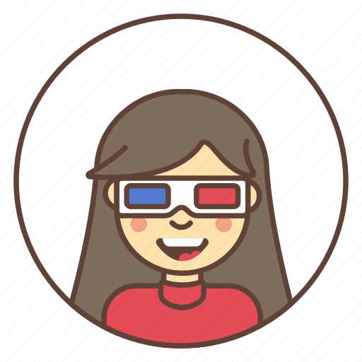 avatar, girl, glasses, movie, relax icon