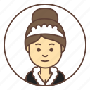 avatar, cleaner, girl, housemaid, maid icon
