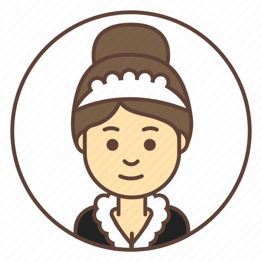 Avatar, cleaner, girl, housemaid, maid icon - Download on Iconfinder