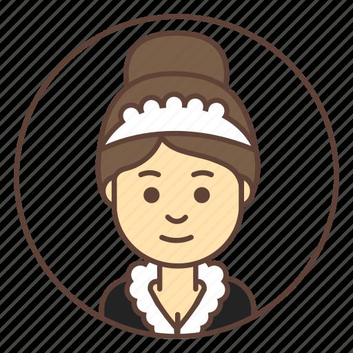 avatar, cleaner, girl, housemaid, maid icon