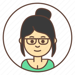 avatar, girl, glasses, hairstyle icon