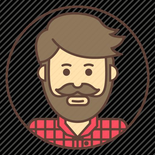 avatar, beard, man, mustache icon