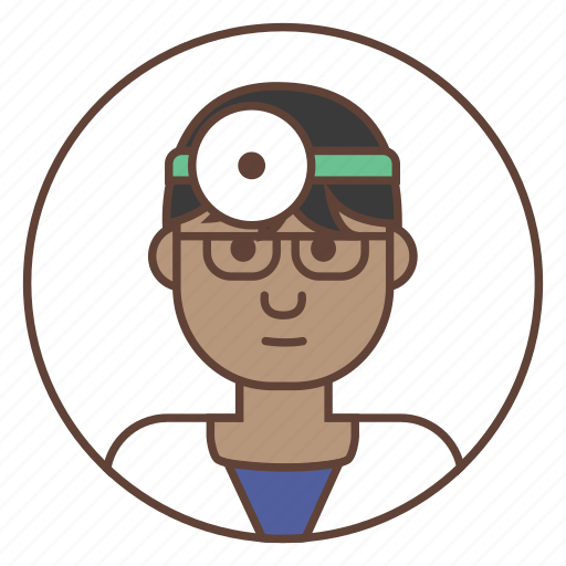 afro, avatar, doctor, medic, surgeon icon