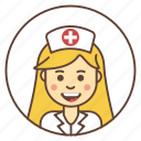 avatar, girl, medic, nurse icon