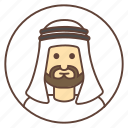 arab, avatar, beard, kandura, muslim icon