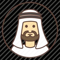 arab, avatar, beard, kandura, muslim icon