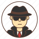 avatar, hat, spy, sunglasses icon