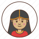 avatar, girl, indian icon