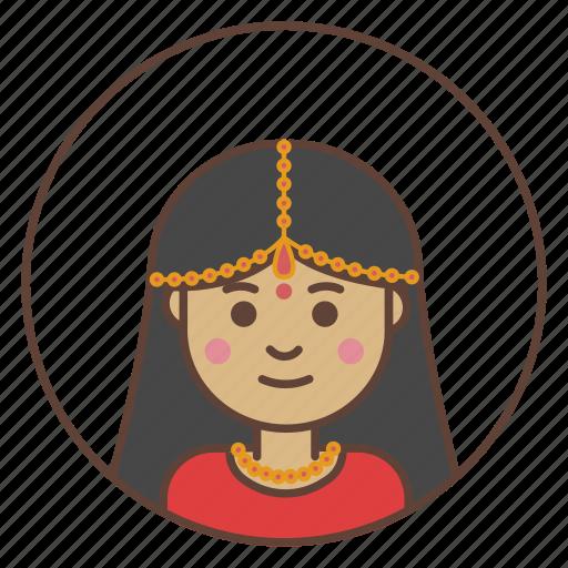 avatar, girl, indian icon