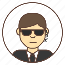 avatar, bodyguard, guard, sunglasses icon