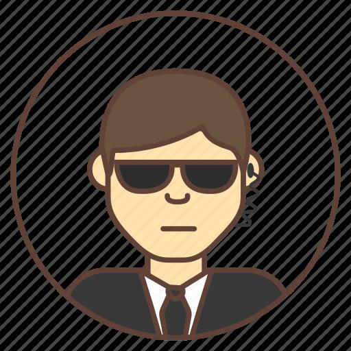 avatar, bodyguard, guard, sunglasses icon