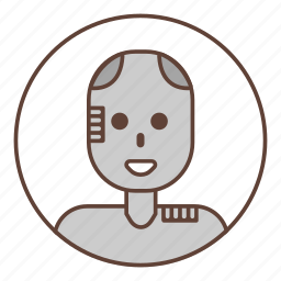 avatar, machine, robot icon