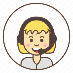 avatar, headphones, support icon