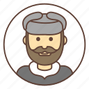 avatar, russian, beard, hat, mustache, man icon