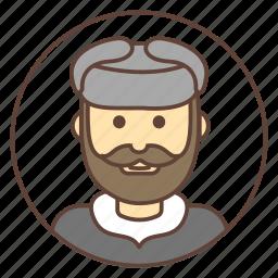 avatar, beard, hat, man, mustache, russian icon