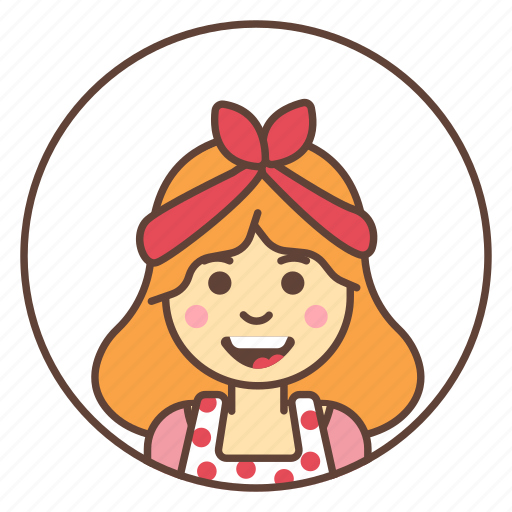 apron, avatar, cleaner, housewife icon