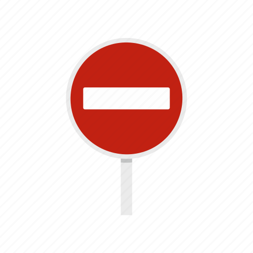 caution, entry, no, road, stop, traffic, warning icon
