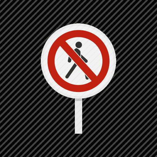 forbidden, no, pedestrian, prohibited, prohibition, risk, stop icon