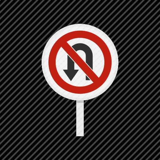 arrow, danger, forbid, no, traffic, turn, warning icon