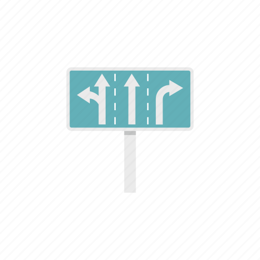 arrow, direction, junction, post, road, traffic, way icon