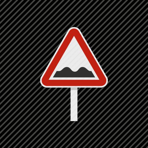 bump, danger, road, speed, traffic, triangle, warning icon