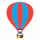 aerostat, fly, sport, travel icon