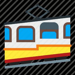 funicular, transportation, vehicle icon