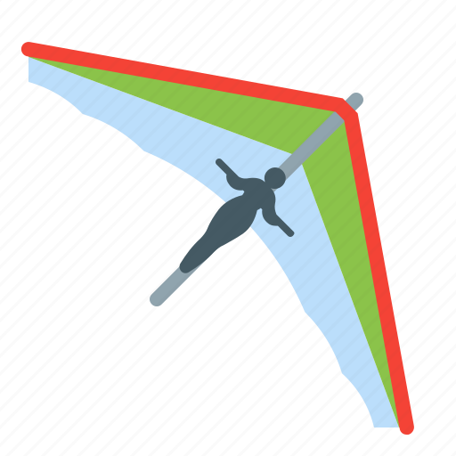 flight, glider, sport, wings icon