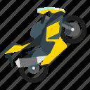 motocross, motorbike, sport icon