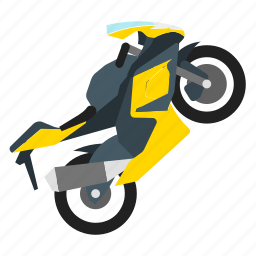 motocross, motorbike, sport, sports icon