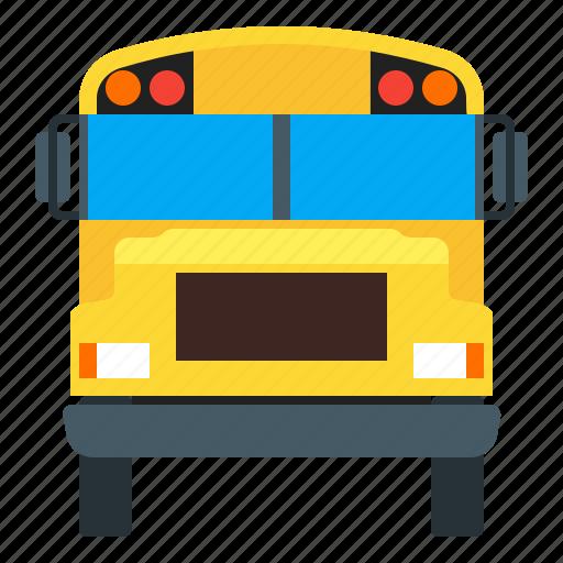 bus, school, schoolbus, vehicle icon