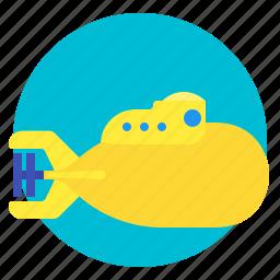 nautical, sea, submarine, underwater icon
