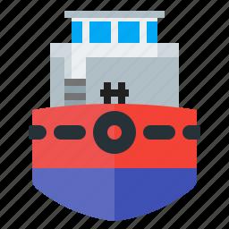 ship, shipping, towboats, tug icon