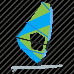 rest, sea, watersport, windsurfing icon