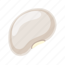 bean, cooking, grain, leguminous, peas, seed, white icon