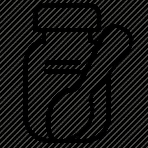 bottle, drug, health, medicine, spoon, syrup icon