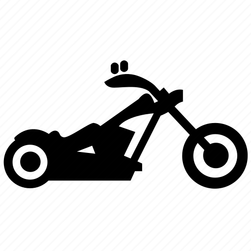 chopper, motorbike, transport, vehicle, wheel icon