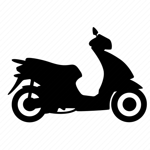 motorbike, scooter, transport, vehicle, wheel icon
