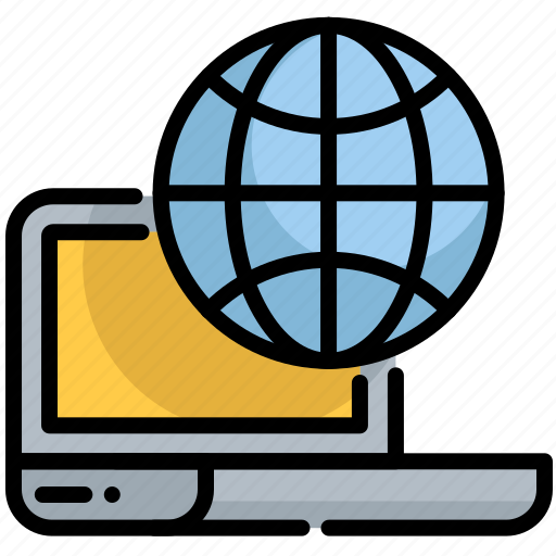 Digital, earth, laptop, planet, seo, web icon - Download on Iconfinder