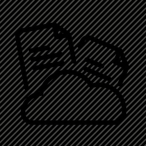 cloud, cloud documents, design, development, document icon