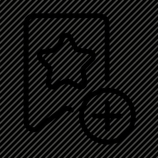 add, add bookmark, bookmark, design, development, favorite icon
