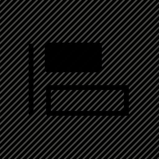 align, align left, align tool, design, development, tool icon