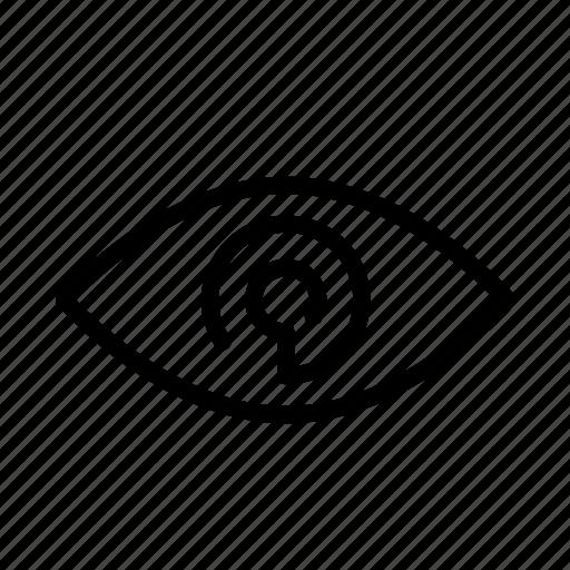 design, development, eye, view, views icon