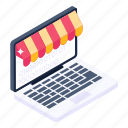 electronic shop, online shop, ecommerce, online shopping, eshopping icon