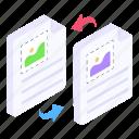 file transfer, data transfer, information transfer, document transfer, data transmission icon