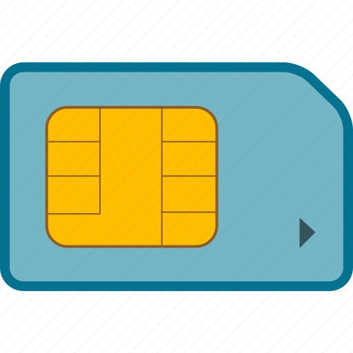 gsm, sim, sim card icon